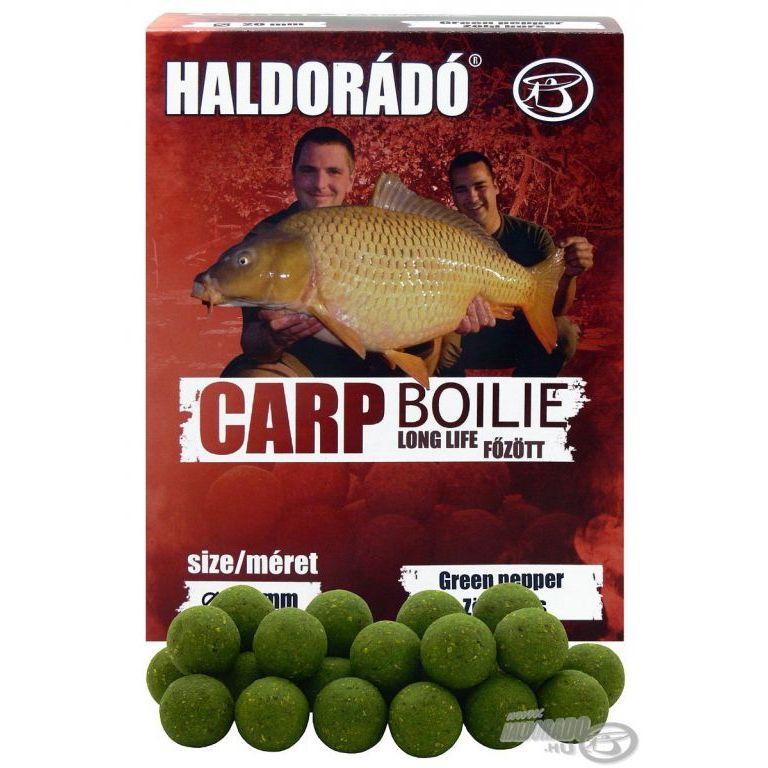 HALDORÁDÓ Carp Boilie főzött - Zöld Bors 20 mm