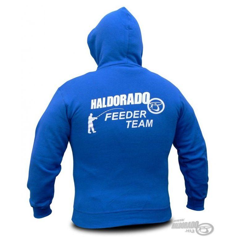 HALDORÁDÓ Feeder Team kapucnis pulcsi gyermek 140