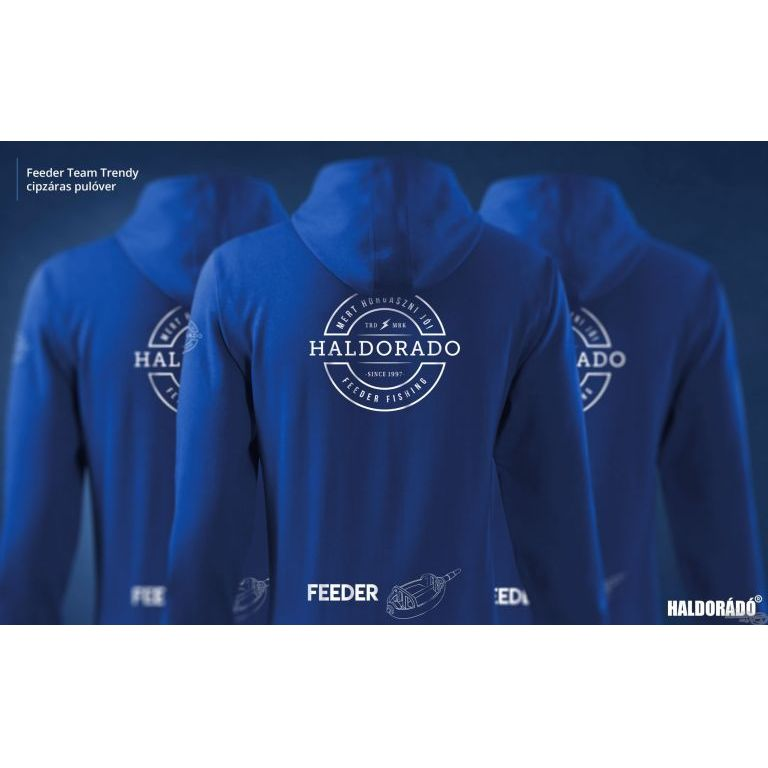 HALDORÁDÓ Feeder Team Trendy cipzáras pulóver XL