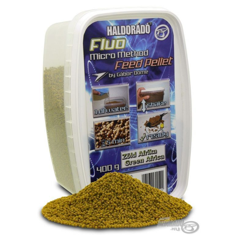 HALDORÁDÓ Fluo Micro Method Feed Pellet - Zöld Afrika