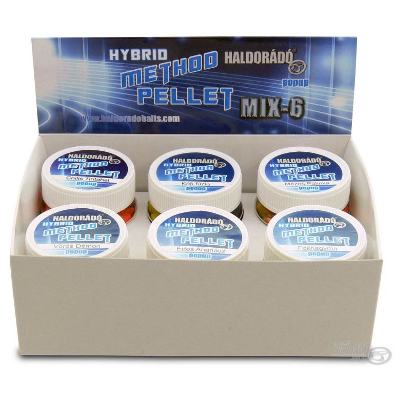 HALDORÁDÓ Hybrid Method Pellet - MIX-6 / 6 íz egy dobozban