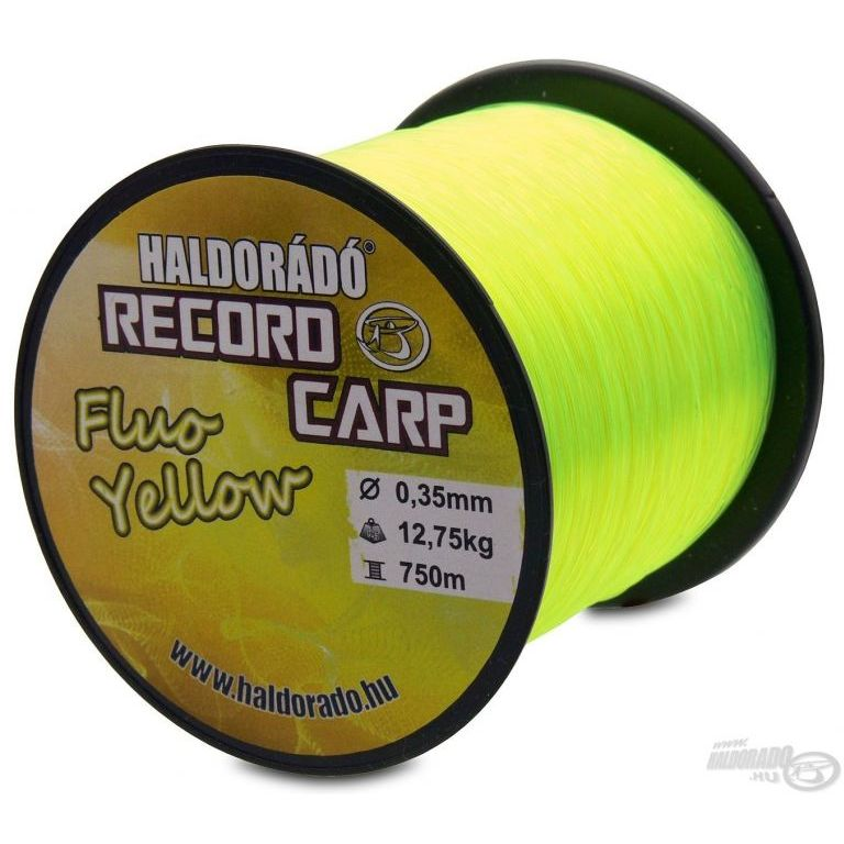 HALDORÁDÓ Record Carp Fluo Yellow 0,35 mm / 750 m