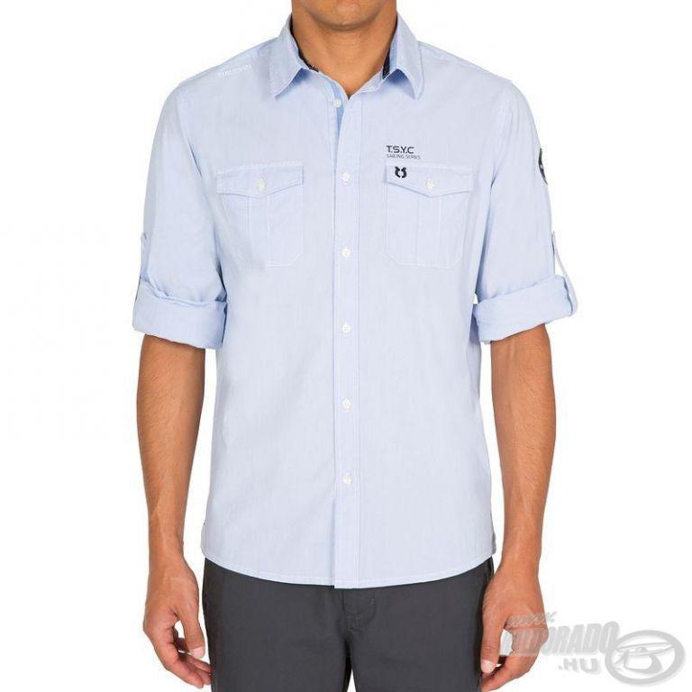 HALDORÁDÓ TRIBORD UPF 40+ UV szűrős ing világoskék M/L