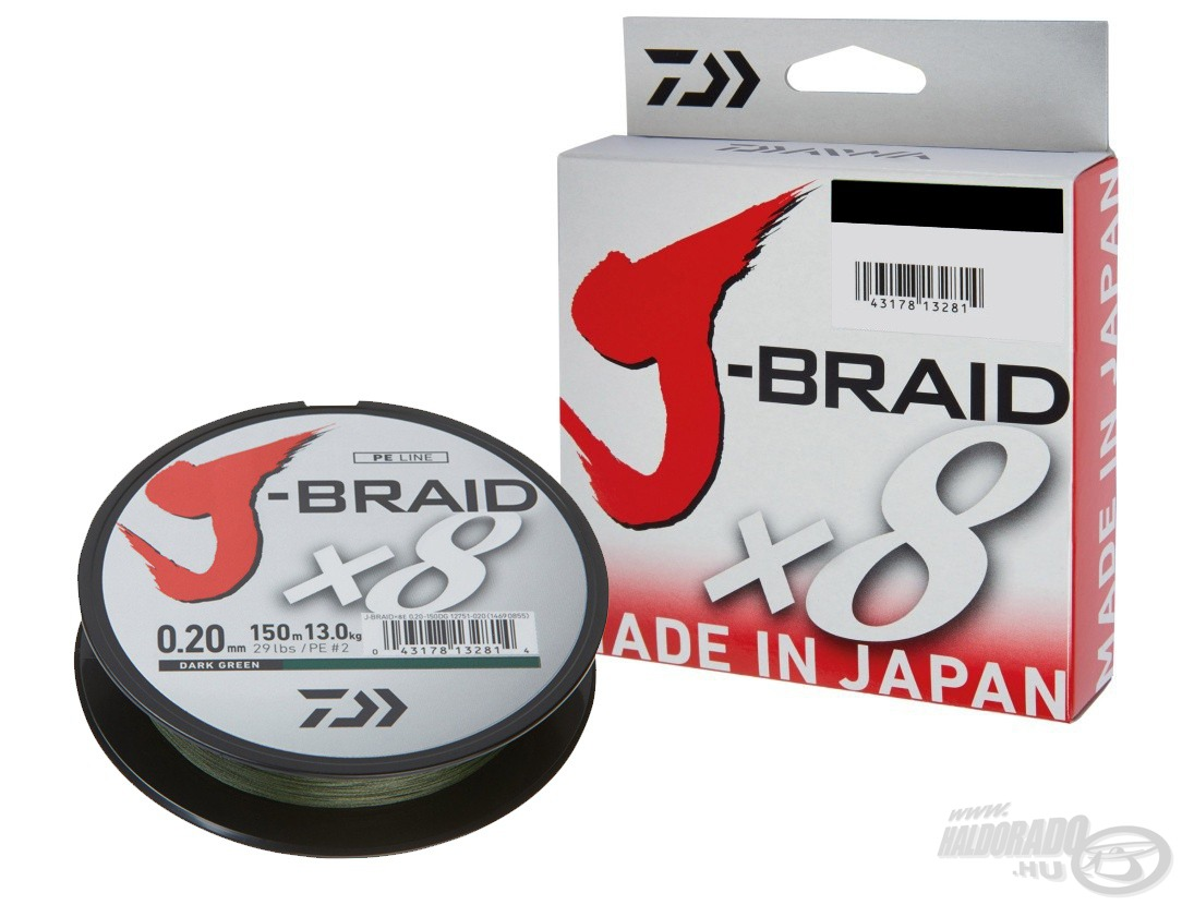 DAIWA, J-Braid, X8, Green, 150, m, 4590Ft