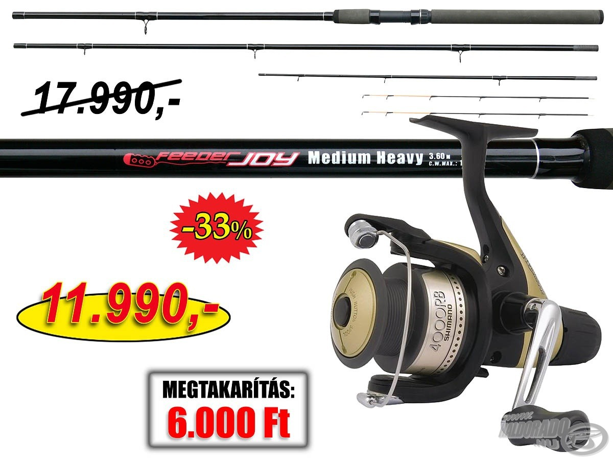 SHIMANO, Joy, Feeder, Hyperloop, ors�val, 17990, helyett, 11990Ft