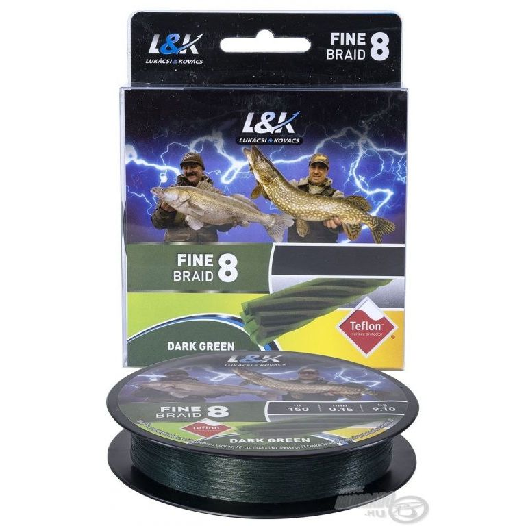L&K Fine Braid 8 Dark Green - 0,08 mm