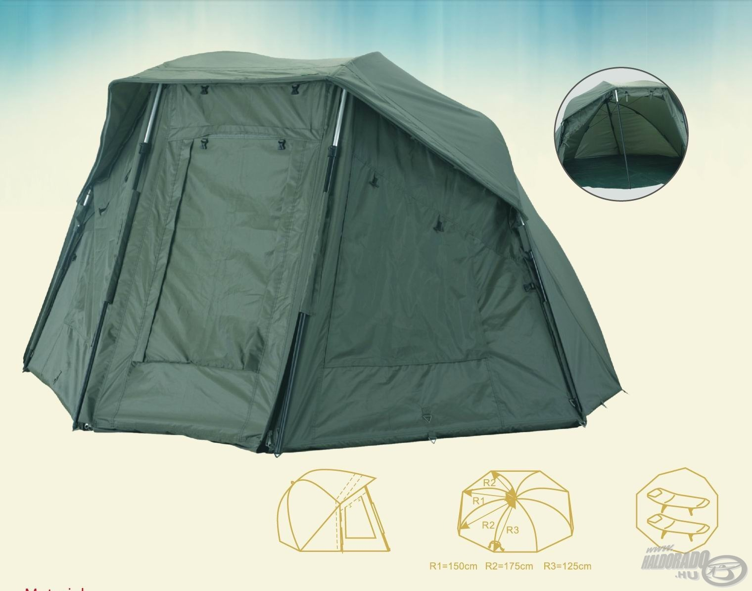 CARP ACADEMY Oval Dome 41500Ft