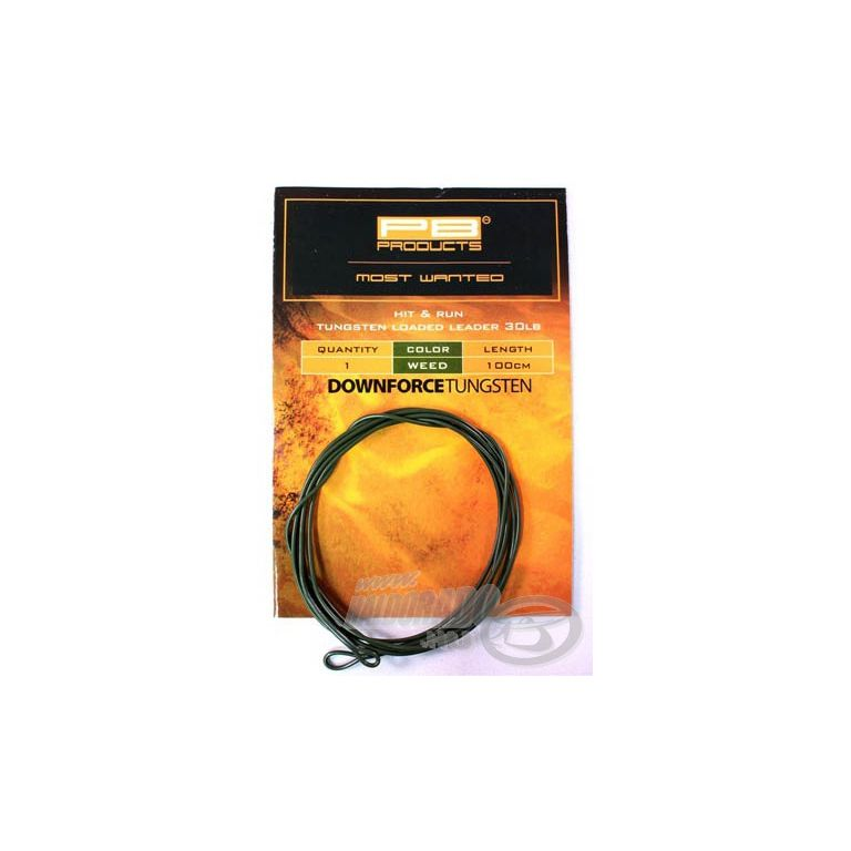 PB PRODUCTS Downforce Tungsten Loaded Leader Weed 30 Lb