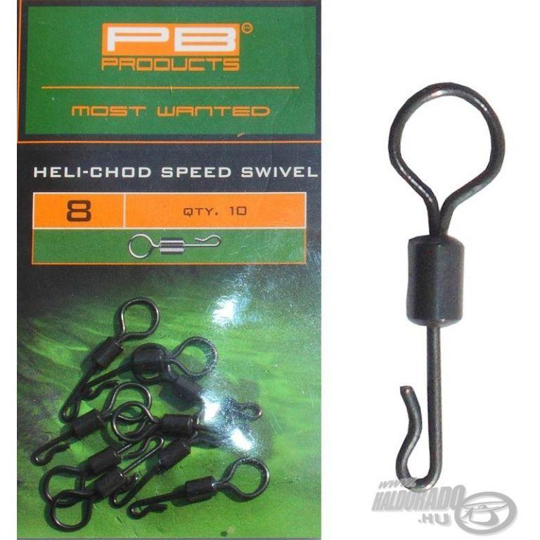 PB PRODUCTS Nagy szemű gyorskapcsos forgó - Heli-Chod Speed Swivel 8