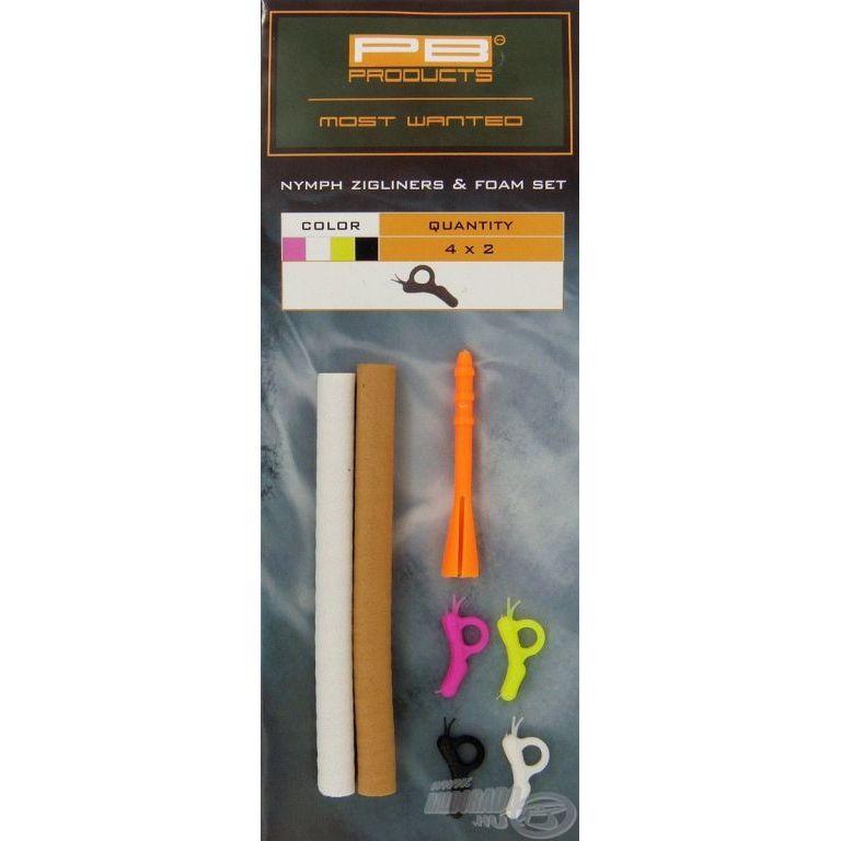 PB PRODUCTS Zigliners & Foam Set - Nymph