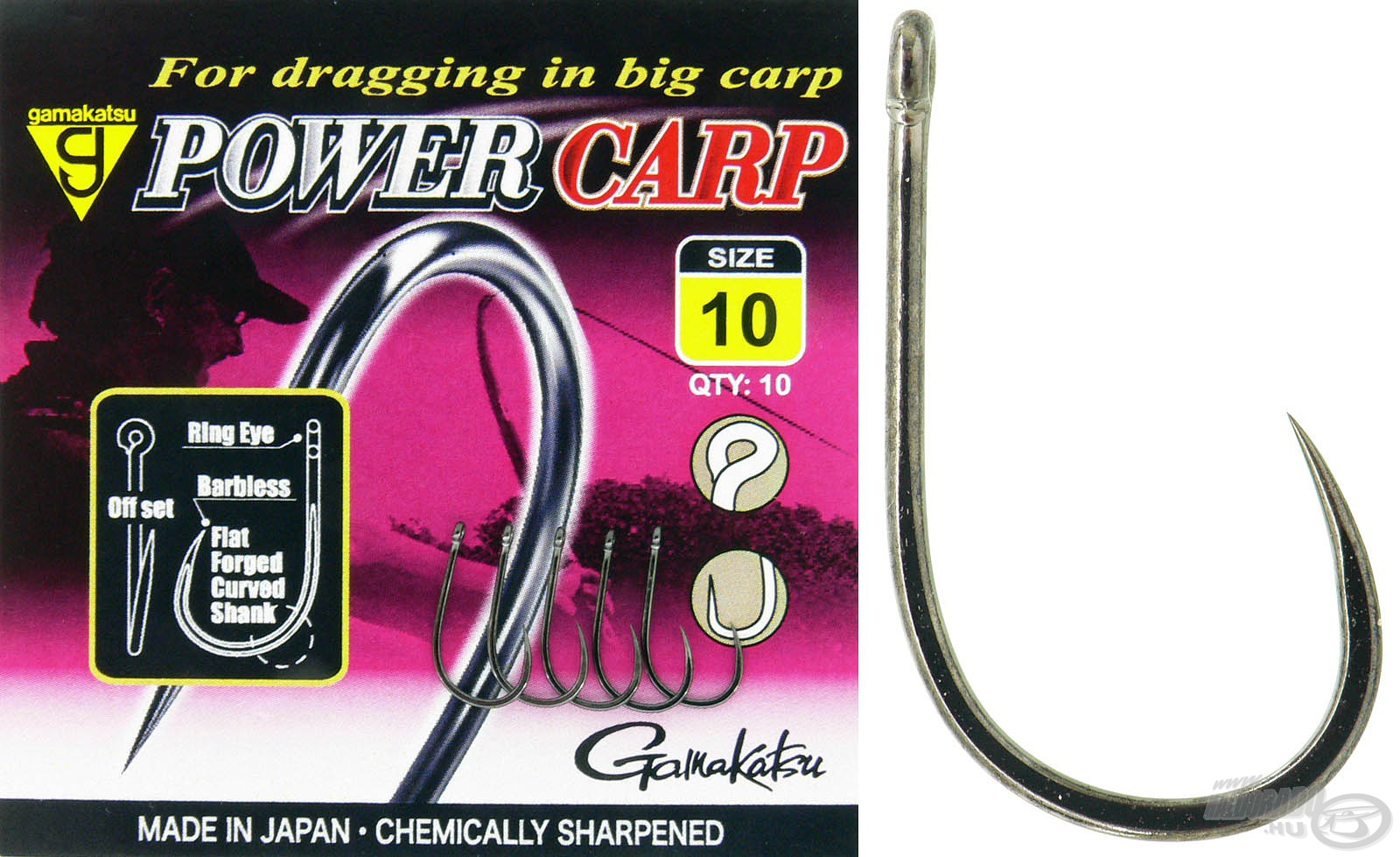 GAMAKATSU, Power, Carp, Barbless, 1050Ft