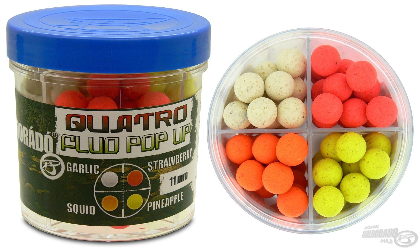 HALDOR�D�, Quatro Fluo Pop Up Boilies 11 mm