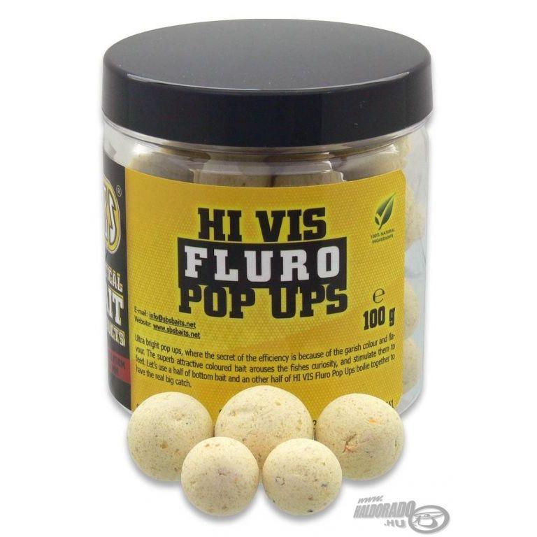 SBS Hi Vis Fluro Pop Up bojli Garlic 10-14 mm
