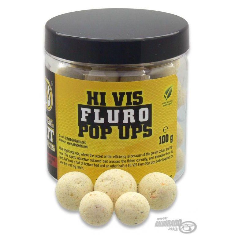 SBS Hi Vis Fluro Pop Up bojli Garlic 16-20 mm