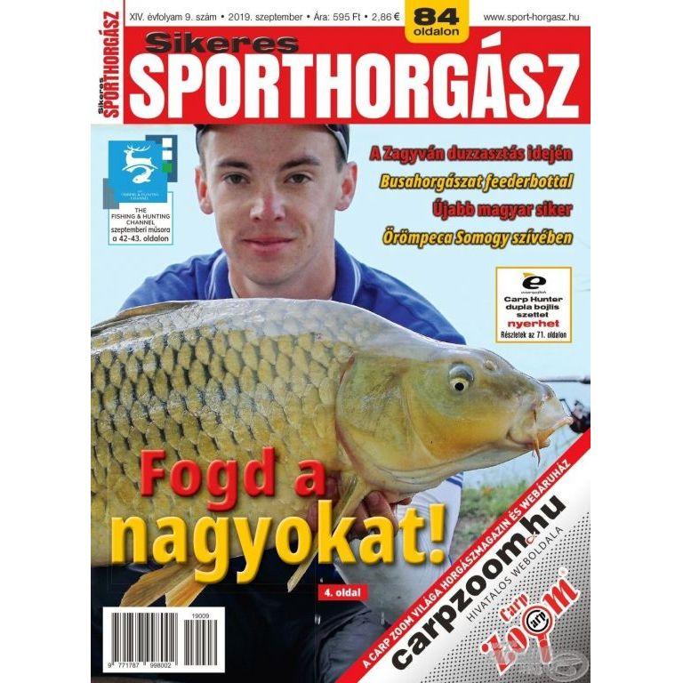 Sikeres Sporthorgász 2019. szeptember