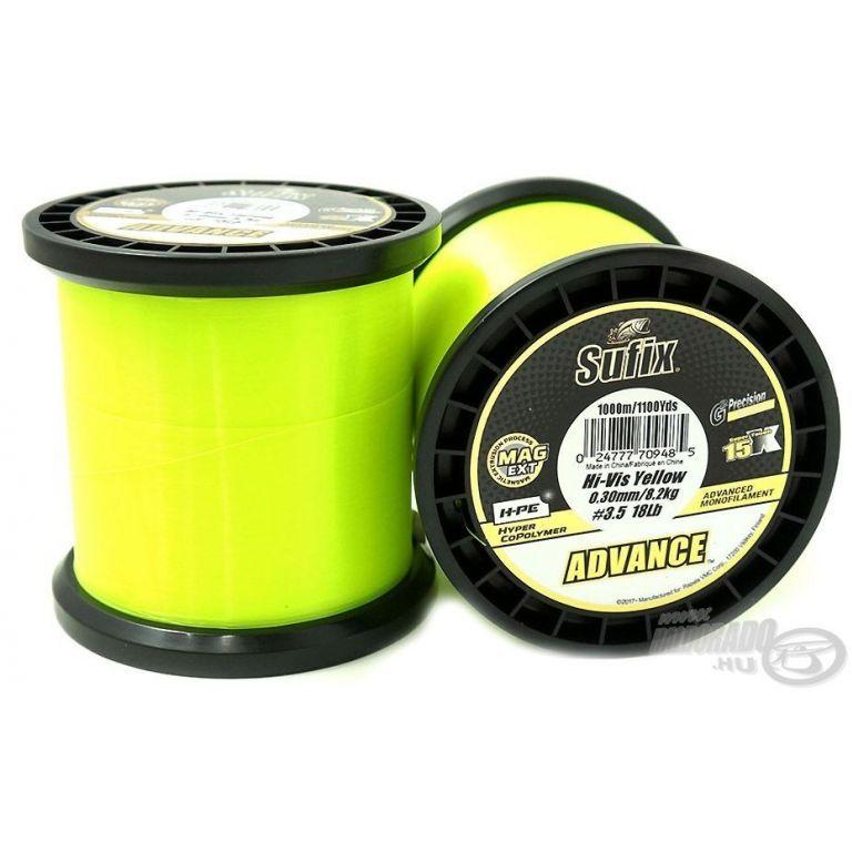 SUFIX Advance Hi Vis Yellow 1000 m 0,25 mm