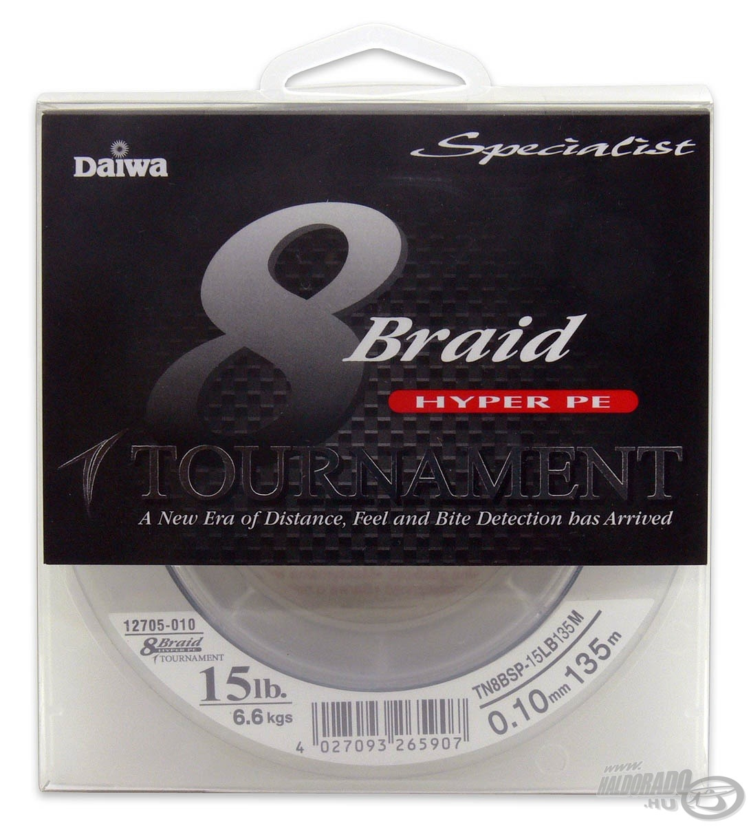 DAIWA, Tournament, 8X, Braid, 0,10, mm, -, 135, m 12490, helyett, 10490Ft