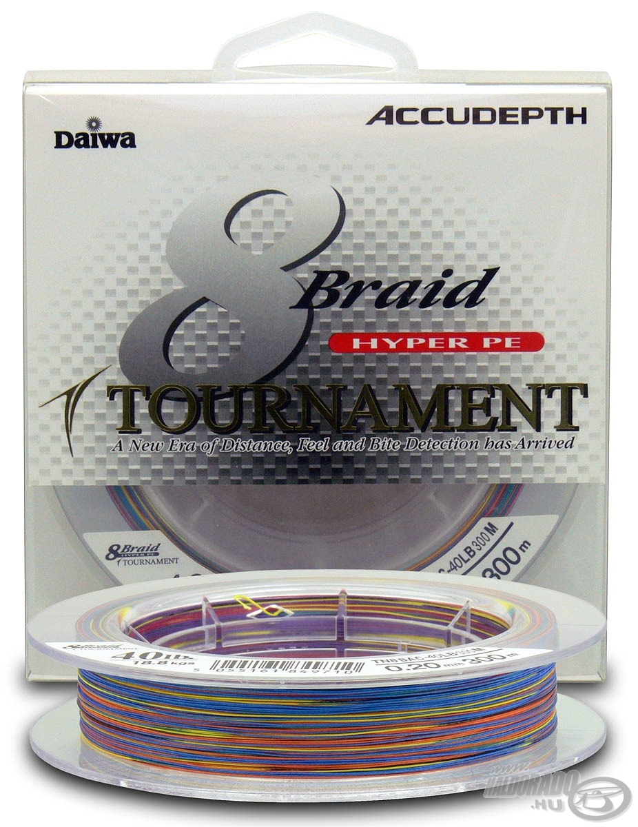 DAIWA, Tournament, 8X, Braid, Multicolor, 0,20, mm, 300, m 16990, helyett, 13890Ft