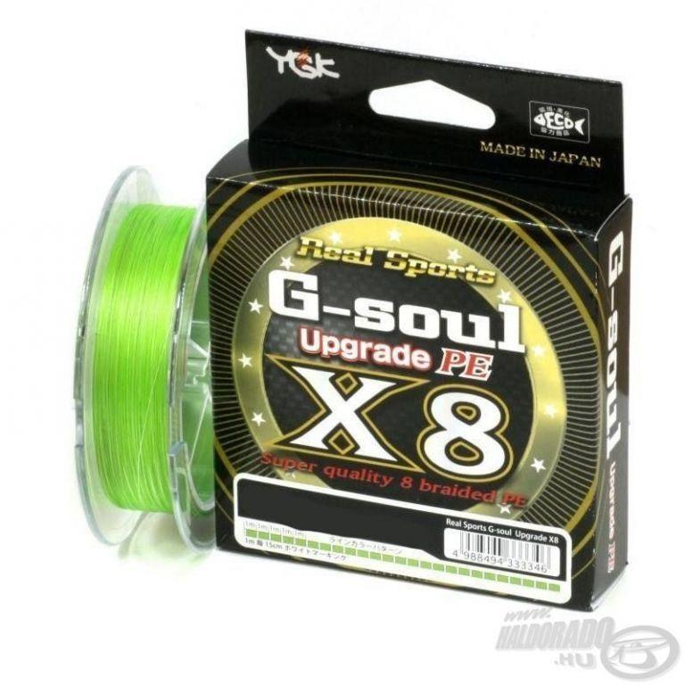 YGK G-Soul X8 Upgrade Braid fluo zöld 150 m - 0,148 mm